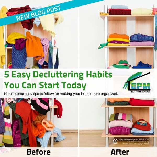 5 Easy Decluttering Habits You Can Start Today