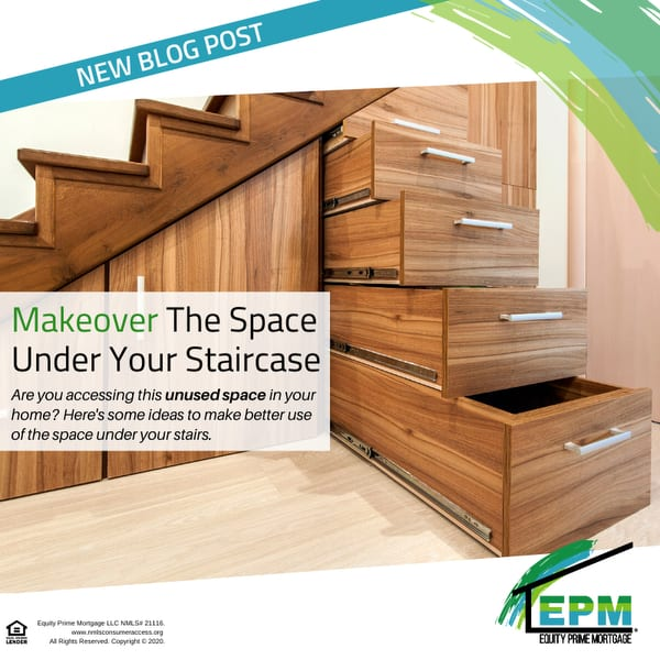 Makeover The Space Under Your Staircase