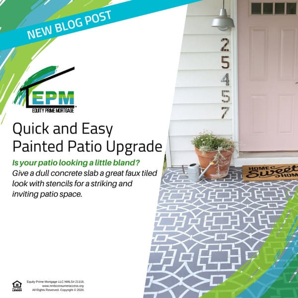 Quick and Easy Painted Patio Upgrade