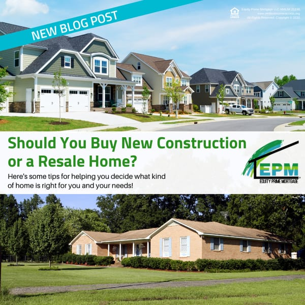 Should You Buy New Construction or a Resale Home?