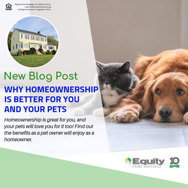 Why Homeownership Is Better for You and Your Pets